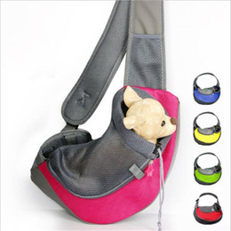 Wholesale Pet Backpack Carriers - Pet Dog Backpack Carrier Bag Breathable Mesh Head Out Slings cross chest Front Bag Pet Dog Cat Outdoor Travel Bag 31*24*22cm 37*29*25cm new