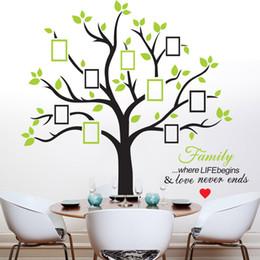 Hogares imágenes online-216 * 209 cm Photo Tree pegatinas de pared con marco de imagen Wallpaper Wall Art para la decoración del hogar Accesorios de cocina Household Suppllies