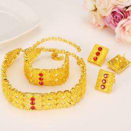 Jade ring set online-ganzes salesgold äthiopischer Satzschmucksachen afrikanisches Halsbandhalskettenarmbandohrring stellt eritrea habesha Brauthochzeitsschmucksachepartygeschenk ein