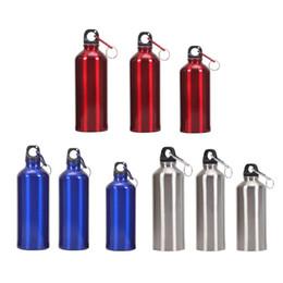 Bollitore d'acqua di alluminio online-Bottiglia d'acqua 400ml 500ml 600ml outdoor exercise Alluminio portatile Outdoor Bike Sport bottiglia d'acqua potabile Bollitore con coperchio