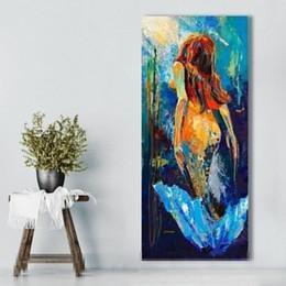 2019 pintura a óleo projetos lona Novo Design Mar Bela Sereia Pintura A Óleo Artesanal Lona Pinturas Seascape Canvas Fotos Pintura Decoração de Casa pintura a óleo projetos lona barato
