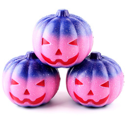 Wholesale toy pumpkins - Creative Squishy Starry Pumpkin Slow Rebound Decompression Toys Squishies Hand Squeezed Toy Children Halloween Gifts 16sq CR