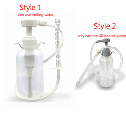 Wholesale enema cleaner - Anal Douche Cleaner Enema Anal Vagina Cleaning Kit Anal Sex Toys Showern Enema Bottle Pump Enema Bag Sex Products For Couples