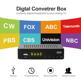 Wholesale analog receiver - USA Mexico Canada South Korea TERRESTRIAL ATSC TV BOX 1080P HDMI Digital Analog CONVERTOR RECEIVER HDTV Without VHF UHF ANTENNA