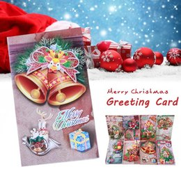 Christmas Element Three Dimensional Greeting Card DIY Gift Blessing Invitaons Party Happy Birthdays S3