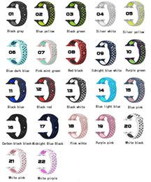 Wholesale Apple Rubber Band - sport band for apple watch 3 42mm 38mm iwatch 3 2 1 band silicone wrist band bracelet Rubber watch strap