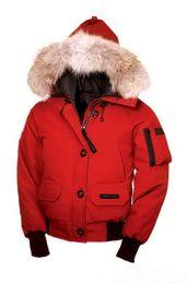 Manteau femme xl online-Mujeres Bomber Femme Aire libre chaqueta de piel abajo Hiver Grueso cálido a prueba de viento Goose Down Coat Espesar Fourrure chaqueta con capucha Manteaus Doudoune Coat