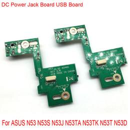 jacks dc Rebajas 20 Unids / lote DC Power Jack Interruptor de carga USB Junta Flex Cable para ASUS N53SV N53S N53J N53TA N53TK N53SM N53DA N53SL N53SN