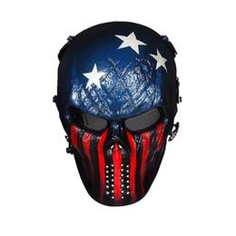 2019 máscara de malha metálica cheia Máscara completa de Airsoft da cara com máscaras do partido da proteção ocular do engranzamento do metal desconto máscara de malha metálica cheia