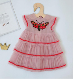 Wholesale Toddler Girls Chinese Dress - Pre-order 5pcs lot Girls Clothes Dresses Summer butterfly Kids Dress Girls Toddler Girl Dresses 2-7T sylvia 565763432620