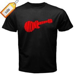 Музыкальные группы логотипы онлайн-Новый THE MONKEES Логотип Rock Band Music Legend мужская Черная Футболка Размер S до 3XLВысококачественная Повседневная Одежда