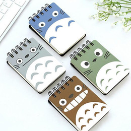 Wholesale Pocket Agenda - Wholesale- 1pcs lot 102*80mm Japan Cartoon Totoro Series Coil Mini notebook Diary agenda pocket book office school supplies