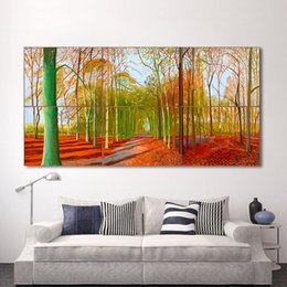 pinturas mágicas Rebajas 1 Unids Canvas Art Wall Pictures For Living Room Forest Tree Pintura Woldgate Woods Cuadros Decoracion Decoración Del Hogar Impreso Sin Marco