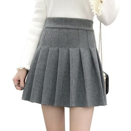 Wholesale Mini Uniform - Women Pleated Skirt Winter Lolita Style Harajuku Kawaii Sweet A-line Skirts Mini School Uniforms Saia Faldas Ladies Jupe SK8490