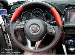 Wholesale Mazda Steering Wheel Covers - EASY SHOW Manual custom Mazda steering wheel cover
