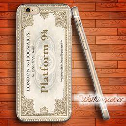 Canada Coque Harry Potter Ticket Coque en TPU Clear en Silicone pour iPhone X 8 6 6S 7 Plus 5S Coque SE 5 5C 4S 4 pour iPod Touch 6 5 Coque. Offre