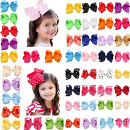Wholesale children hair bows - 16 colors baby girl cany color big bow barrettes Design Hair bowknot Children Headwear Kids Hairpin Girls Hair Clips Baby Hair Accessory