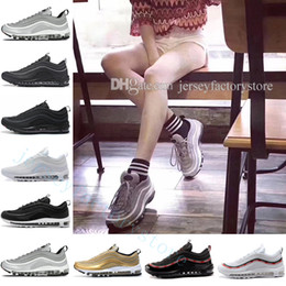 Wholesale free country - 97 QS Country Camo OG Metallic Gold Silver Bullet Tripel Black WHITE 3M PRM Premium mens Running Shoes for Men Women Free shipping US 5.5-11