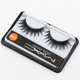 Wholesale Eyelash Extension D Curl - Hot Sale MACs Brand False Eyelashes Handmade Natural Long Curl Thick Fake Eye Lash Extensions Black Color Eyelash Eye Makeup Reusable Lash