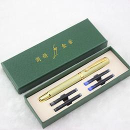 paralelos de escritorio Rebajas DIKA WEN Regalos Escritura Pluma Pluma estilográfica de moda de lujo Metal Plumas de entintado para la oficina de escritura Material de papelería escolar