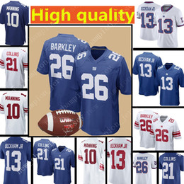 59dbac99f 26 Saquon Barkley New York Giants Jersey 13 Odell Beckham Jr 21 Landon  Collins 10 Eli Manning Football Jerseys