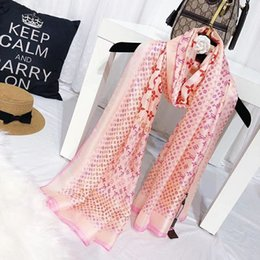 Wholesale design big scarf - Brand new design 2018 new summer women scarf fashion soft big size lady silk female stoles floral print wraps