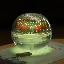 Canada Humidificateur à projection en cristal grande capacité USB maison étoiles colorées lumières purification de l'air aromathérapie machine veilleuse Offre