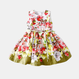 Wholesale European Children Clothes Sizes - baby girls clothes Children Exceed Beautiful Shivering Princess Exit Major Suit Summer Wear New Product Dress Vest Skirt size 100-150