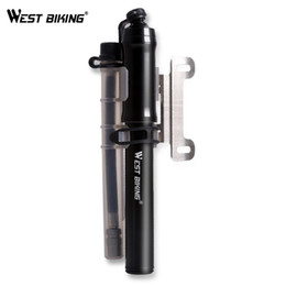 Wholesale Road Bike Front Fork - WEST BIKING Bike Pump for Mountian and Road Bike Tire Front Fork Cycling Pump Air Inflator 260 Psi High Pressure Bicycle Pump
