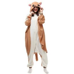 Navios de carnaval on-line-Sugar Planador Rato das Mulheres e Homens Animal Kigurumi Polar Fleece Costume para o Dia Das Bruxas Carnaval de Ano Novo Festa de boas-vindas Transporte da gota