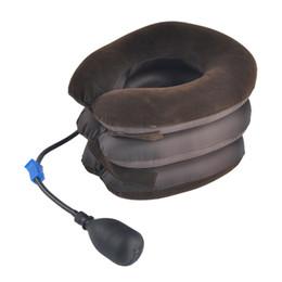 Wholesale Neck Braces - Air Cervical Neck Traction Soft Brace Device Unit for Headache High Quality Head Back Shoulder Neck Pain Health Care Wholesale 0613012