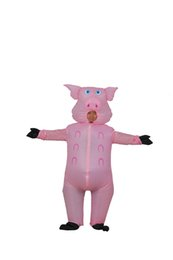 Argentina Traje Inflable de Halloween Traje de Cerdo Rosa mascota Cerdos Blow Up Animal Farm Disfraces Disfraz WSJ-14 cheap pig mascot costumes Suministro