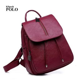 Nuovo arrivo donne zaini in vera pelle mochila borse a spalla vera pelle  zaini scuola per ragazze adolescenti rosso nero borsa black real leather  backpacks ... ed69cd86333