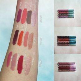 cosméticos caixa mista Desconto Nova mistura de maquiagem Jenner Cosméticos kourt matte batom líquido set 4 pçs / caixa 3 conjunto de cores