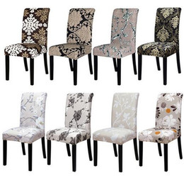 Wholesale Flower Chair Covers - 40 Different Style Flower Printing Removable Chair Cover Stretch Slipcovers Restaurant For Weddings Banquet Folding Hotel Chair Cover