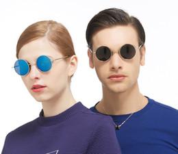 2407d1c7f4 Diseñador de marca de lujo retro gafas de sol redondas hombres y mujeres  anti-UV400 moda mujer Príncipe chino Steampunk gafas de sol 91011F