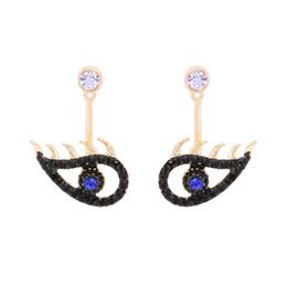 2018 neue Design Modeschmuck Goldfarbe überzogen Strass Auge Charme Frauen baumeln Ohrringe cc Ohrring Europ Art heißen Verkauf Zubehör cc von Fabrikanten