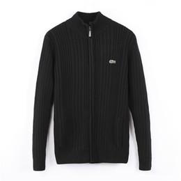 chemises en jersey de coton Promotion M-2XL nouveaux hommes chandail top cardigan en coton à manches longues en crocodile broderie chandail en jersey polo shirt vêtements chaud