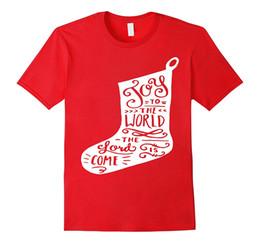 Wholesale Carol Red - Christian Christmas Carol Shirt Stocking Joy To The World