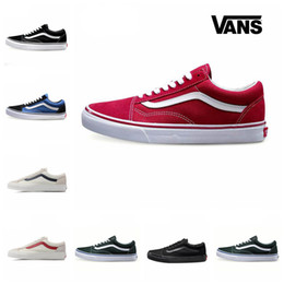 Wholesale mens striped - 2018 New Vans Sneakers mens shoes Vans Old Skool Casual Shoes low-top CLASSICS Unisex Mens & Womens Skateboarding Shoes Sports canvas