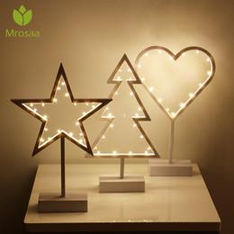 cubo rgb Rebajas Mrosaa INS LED amor de las estrellas noche ornamento Lámparas de luz blanco cálido de estar Dormitorio Iluminación Navidad de la boda del partido del festival de la decoración
