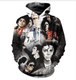 Camisolas de michael jackson moletom com capuz on-line-Casais de moda de nova homens mulheres unisex HD Michael Jackson músico engraçado 3D impressão Hoodies camisola jaqueta pulôver Tops L0M0103