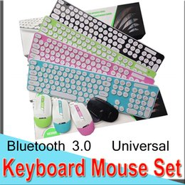 keyboard ios android Promo Codes - Keyboard Mouse Set Combos Round Key Cap 2.4G USB Wireless Universal Stylish Free code Full MAC Android IOS EXHK39 50 Packs