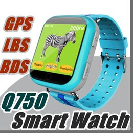 Wholesale Android Agps - Q750 Bluetooth Smartwatch with WiFi GPS AGPS LBS BDS for iPhone IOS Android Smart Phone Wear Clock Wearable Device Smart Watch Q-BS
