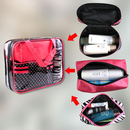 Wholesale toiletry travel bag set - 4pcs set Fashion Brand Cosmetic Bags Waterproof Neceser Portable Make Up Bag Women PVC Pouch Travel Toiletry Bag OOA4543