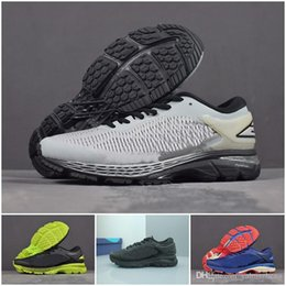 kayano Desconto 2018 Hot GEL KAYANO 25 Homens Sapatos Mulheres Tênis de  corrida Melhor Qualidade Barato 8fda97c02e614