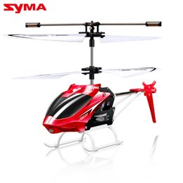 Wholesale Toy Helicopters Yellow Plastic - SYMA W25 4 Channel Mini RC Indoor Helicopter Shatter Resistant Remote Control RC Drone Aircraft Kid Toy Gift