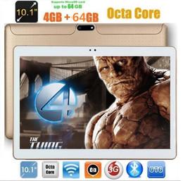 2019 pf 64 10 polegada Octa Núcleo Tablet PC 4 GB de RAM 64 GB ROM IPS 1280 * 800 Câmeras Duplas 5.0 MP 10.1 3G Android 7.0 Tablet + presentes desconto pf 64