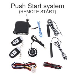 Wholesale Rfid Cars - Universal 12V Smart Auto Car Alarm Engine Starline Push Button Start Stop RFID Lock Ignition Switch Keyless Entry System Starter Anti-theft