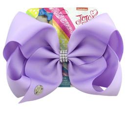 8 pulgadas Jojo Siwa pelo arco color sólido con clips Papercard niñas horquillas niños accesorio para el cabello niño sombreros desde fabricantes